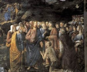 Cosimo Rosselli, Sermone della Montagna e guarigione del lebbroso (particolare)