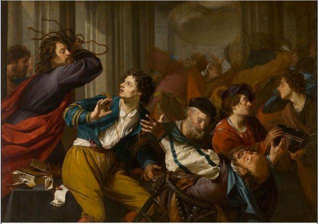 Theodor Rombout, Cristo scaccia i mercanti dal Tempio