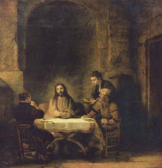 Cristo ad Emmaus, Rembrandt