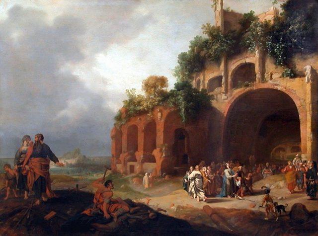Bartholomeus Breenbergh, Gesù guarisce un sordomuto