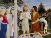 """Da """"Il battesimo di Cristo"""" di Piero della Francesca"""