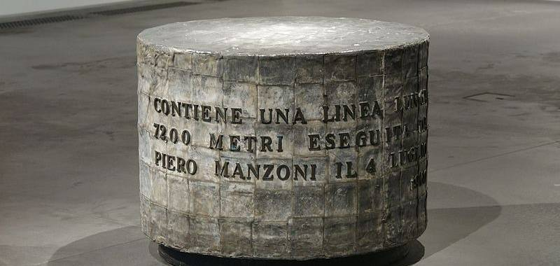 Piero Manzoni, Linea lunga 7200, 1960, Herning Museum of  Contemporary Art.